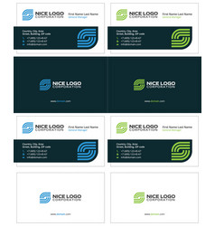 business card internet service provider vector image
