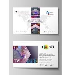 Business card templates Easy editable layout vector