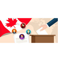 canada democracy political process selecting vector image