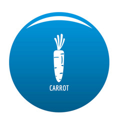 Carrot icon blue vector