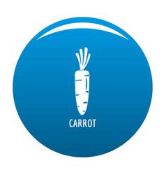 Carrot icon blue vector
