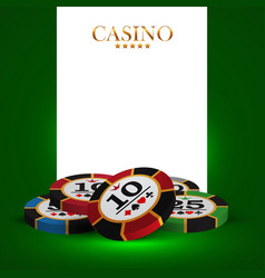 Casino advertising design vector