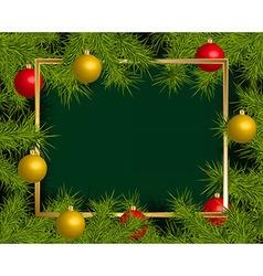 Christmas balls frame vector image