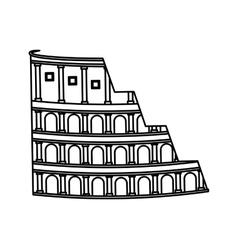 Coliseum roman isolated icon vector