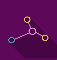 Dna molecule bio abstract logo design vector