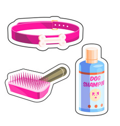 dog grooming set vector image