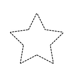 dotted shape rating star symbol and element status vector image