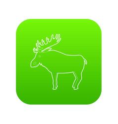 elk icon green vector image