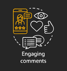 Engaging comments chalk concept icon online pr vector
