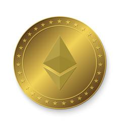 Ethereum golden coin vector