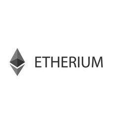 etherium banner on white background vector image