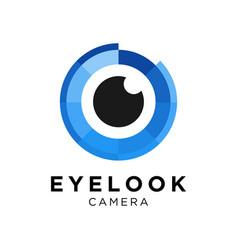 Eye camera logo design inspiration vector