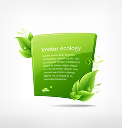 frame green leaf ecology vector image