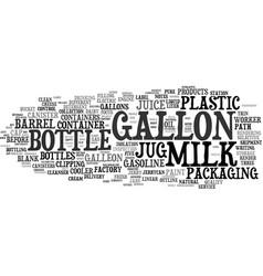 Gallon word cloud concept vector