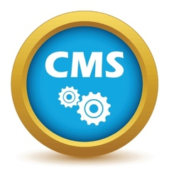 Gold cms icon vector image