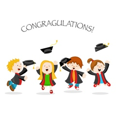 Graduation Message vector image