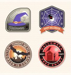 halloween beer party patch halloween vector image