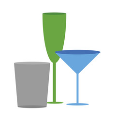 Icon in flat design for restaurant cocktail vector