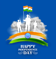 indian army soilder nation hero on pride of india vector image