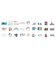 infographics charts business diagrams graphs and vector image
