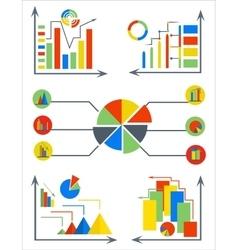 Infographics set elements charts circle pyramid vector image