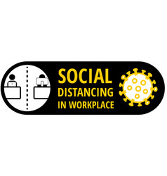 keep social distance between workplace colleagues vector image