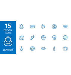 Leather icons vector