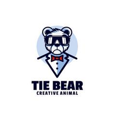 logo bear mascot cartoon style vector image