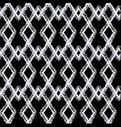 mono embroidery navajo tribal seamless vector image