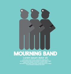 Mourning Band On Soldier Sleeve vector image