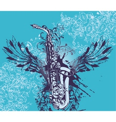 music with saxophone vector image