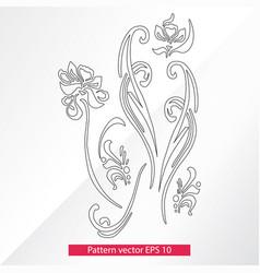 Ornament and decor design elements decoration of vector