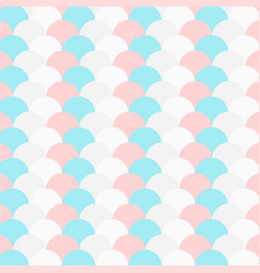Pastel color repeated circle pattern vector