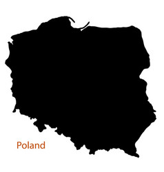 Poland silhouette map vector