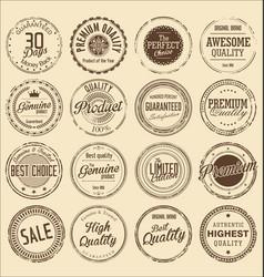 premium quality retro grunge stamp collection vector image