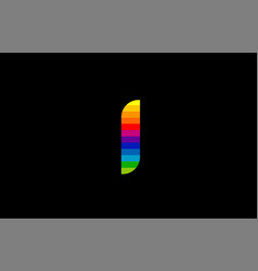 rainbow color colored colorful number 1 one logo vector image