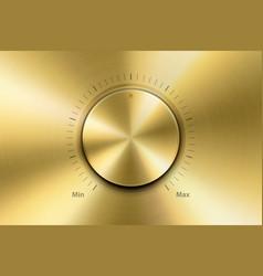 realistic metallic golden knob design vector image