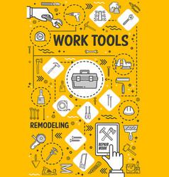 Repair remodeling and renovation hand tools vector