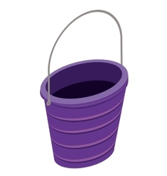 sand bucket isolated icon design vector image