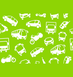 seamless background of motor transport vector image