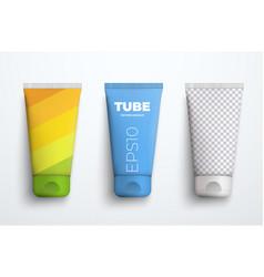 Set mockups realistic plastic tube for vector