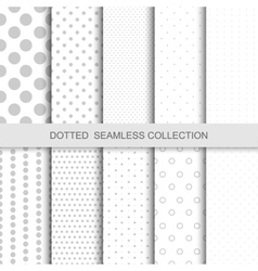 Simple dotted patterns vector