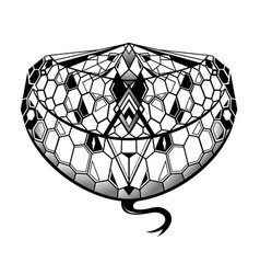 snake tattoo as creative tattoo shape vector image