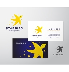 Star Bird Abstract Logo and Business Card vector image