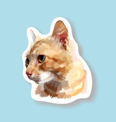 sticker cat looking side vector image