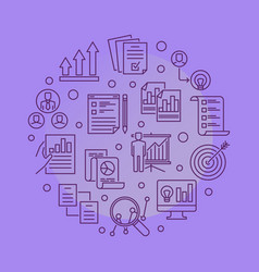 strategic planning process round line vector image
