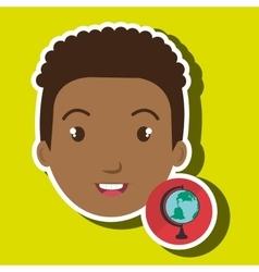 Student girl school icon vector