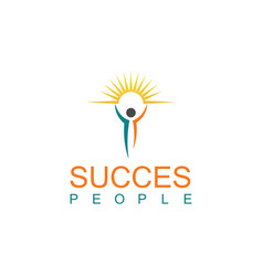 Succes people logo vector