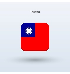 Taiwan flag icon vector image