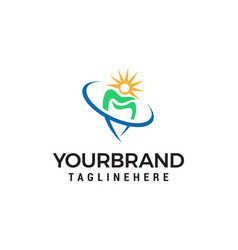 tooth protection logo dental clinic logo design vector image